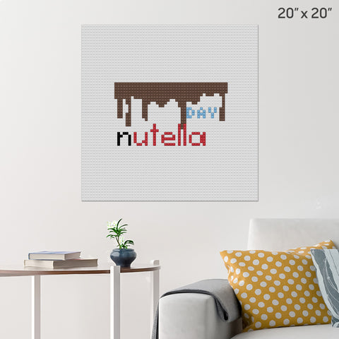 World Nutella Day Brick Poster