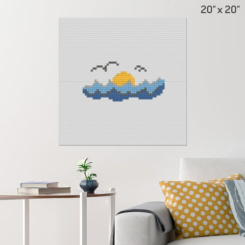 World Oceans Day Brick Poster