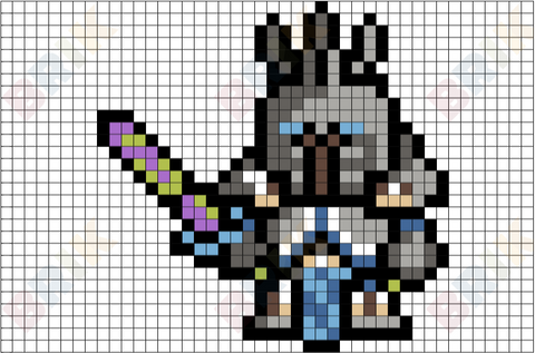 World of Warcraft Arthas Pixel Art