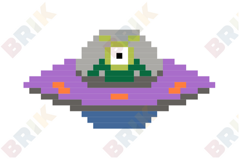 World UFO Day Pixel Art
