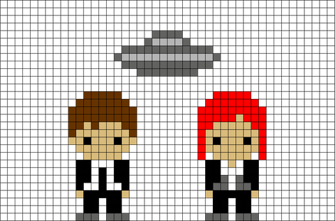 X-Files Pixel Art