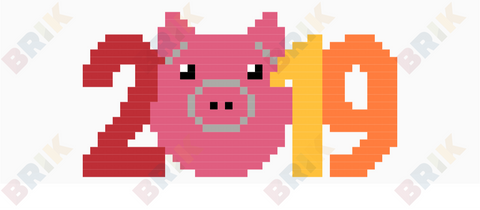 Year of the Pig Pixel Art
