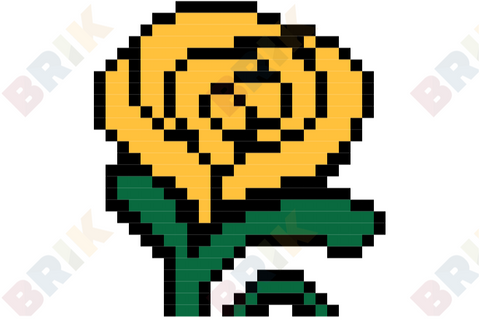 Yellow Rose Pixel Art