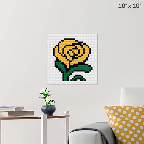 Yellow Rose Brick Poster