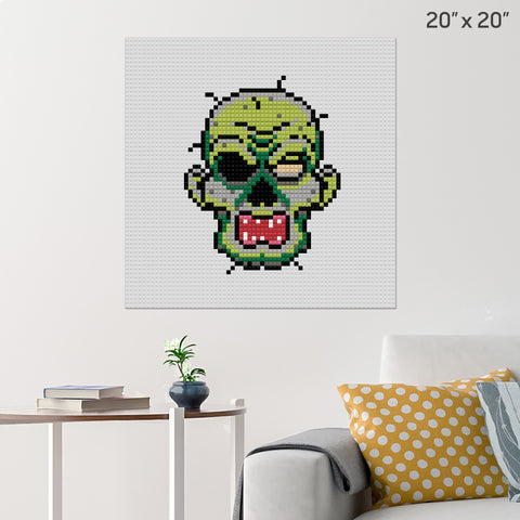 Zombie Face Brick Poster