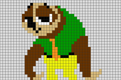Zootopia Flash Pixel Art