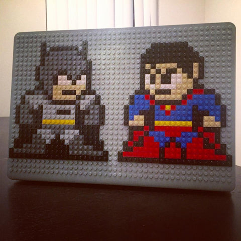 Superman Batman MacBook Case Pixel Art