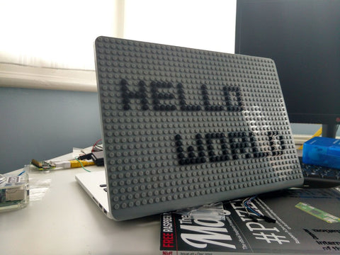 Hello World Pixel Art MacBook Case