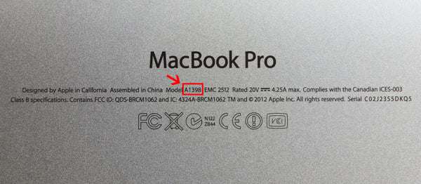 MacBook Model Number