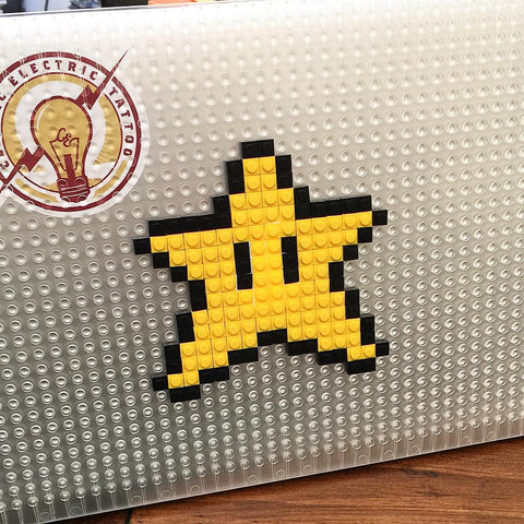 Mario Clear Star MacBook Case