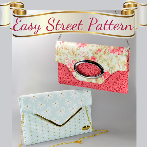 Chloe's Court Clutch - New Easy Street Pattern by ChrisW Designs