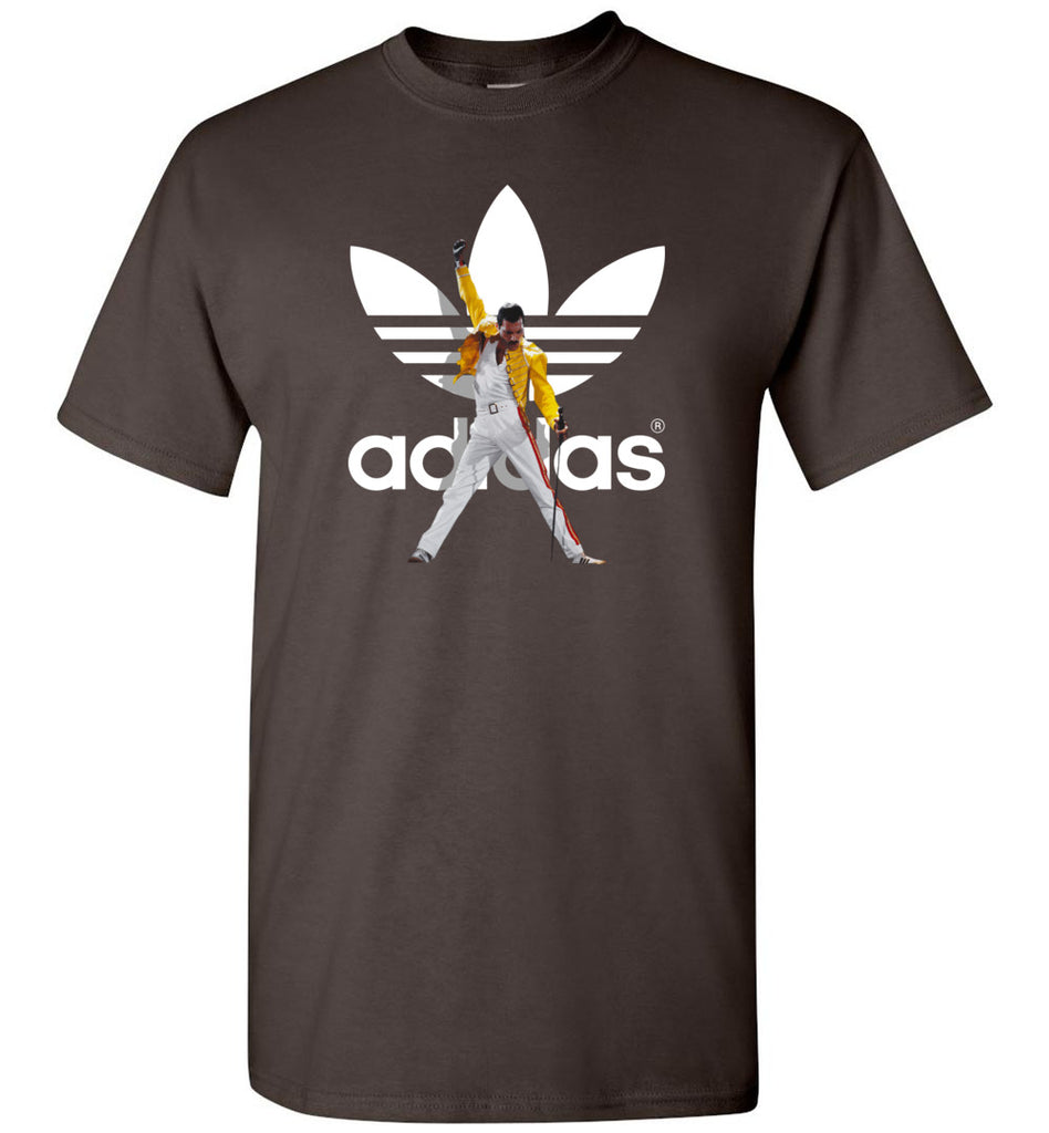 Freddie Mercury Vintage Retro Music Gift for Fans Adidas - T-Shirt