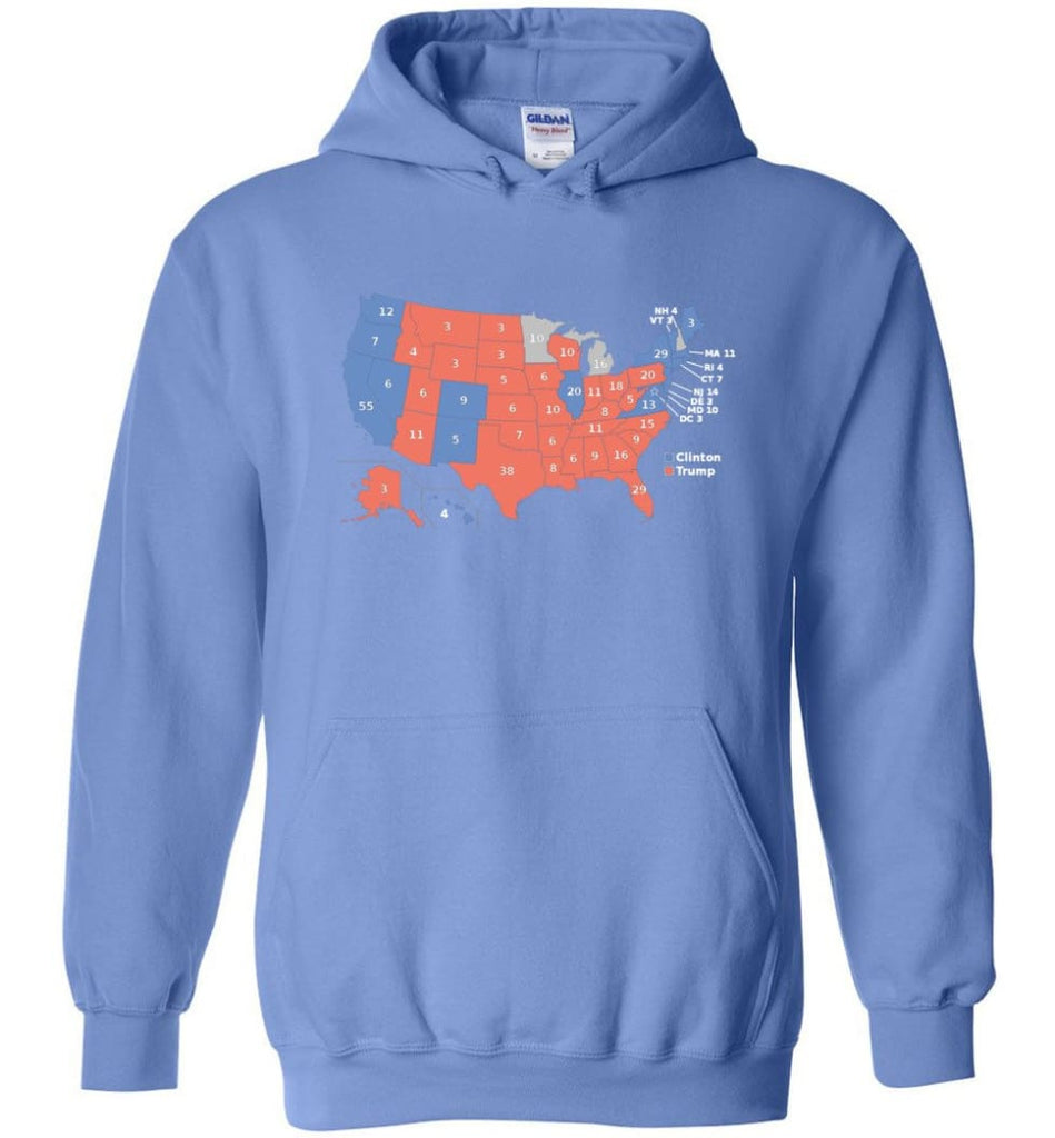 2016 Presidential Election Map Shirt Hoodie - Carolina Blue / M