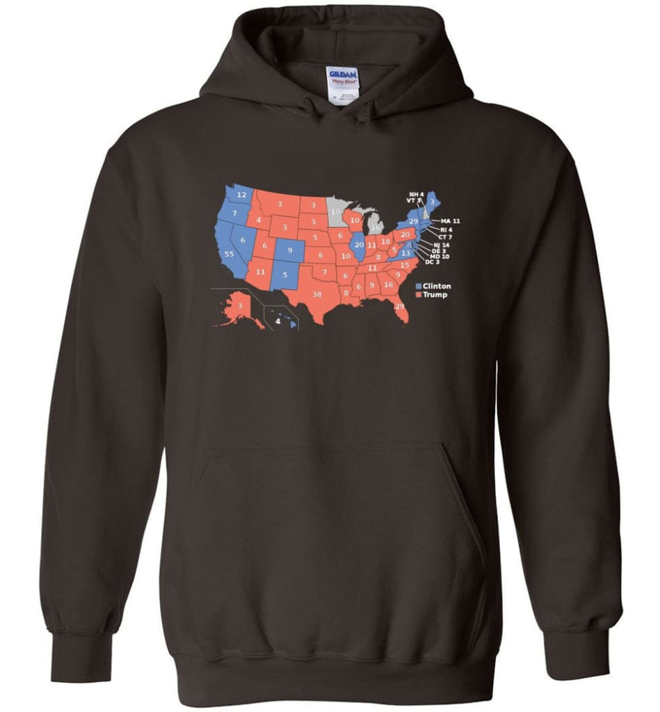 2016 Presidential Election Map Shirt Hoodie - Dark Chocolate / M