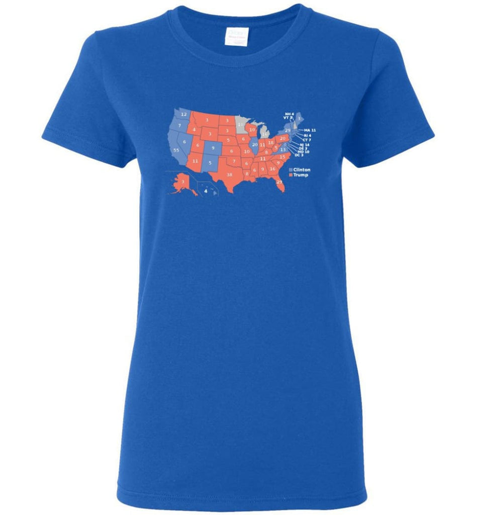 2016 Presidential Election Map Shirt Women Tee - Royal / M