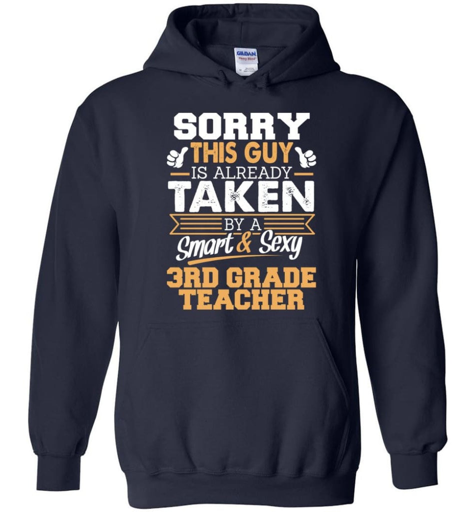 3rd Grade Teacher Shirt Cool Gift for Boyfriend Husband or Lover - Hoodie - Navy / M