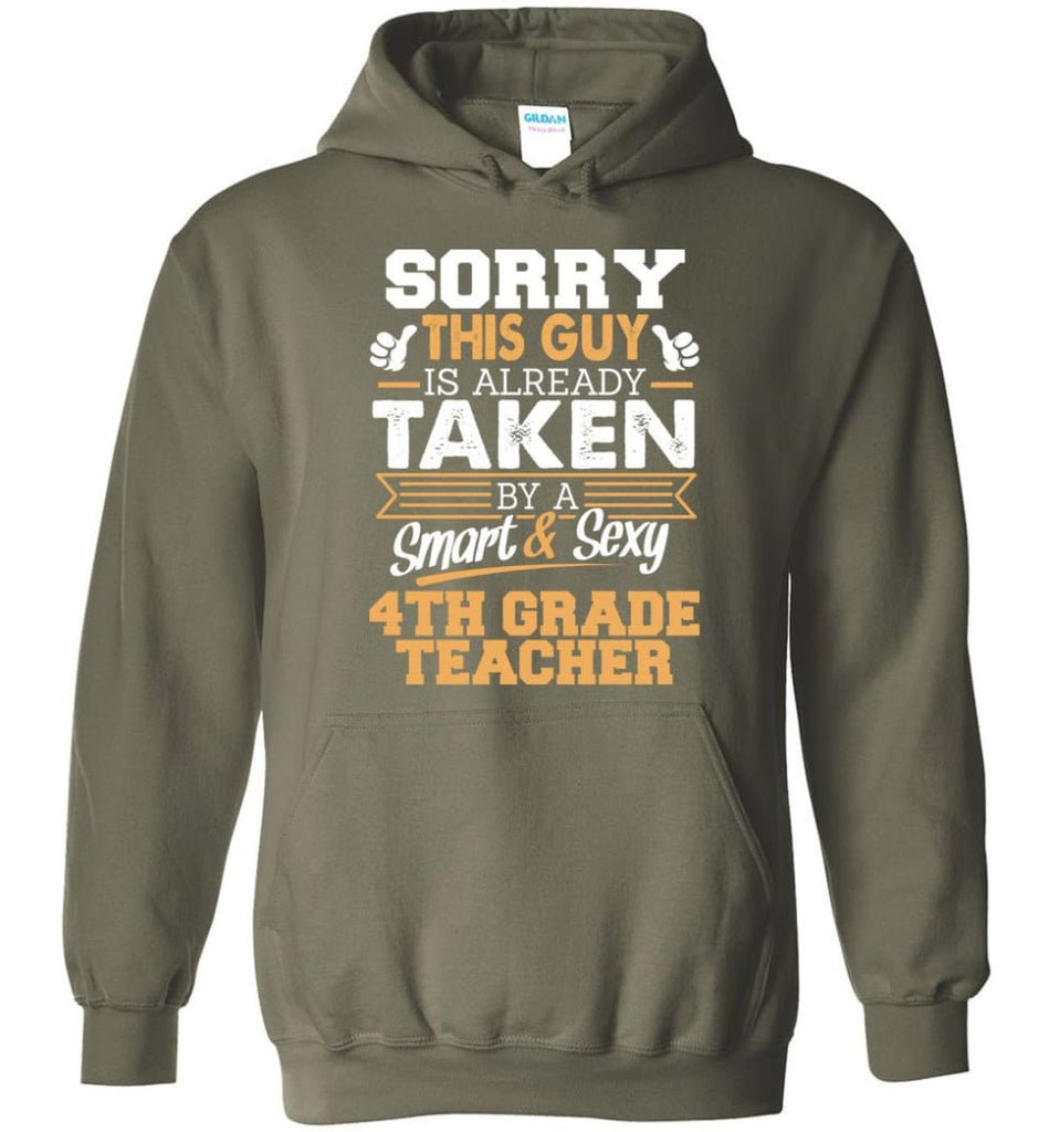 4Th Grade Teacher Shirt Cool Gift For Boyfriend Husband Hoodie - Military Green / M