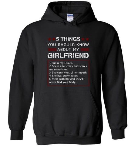 5 Things You Should Know About My Girlfriends - Hoodie - Black / M - Hoodie