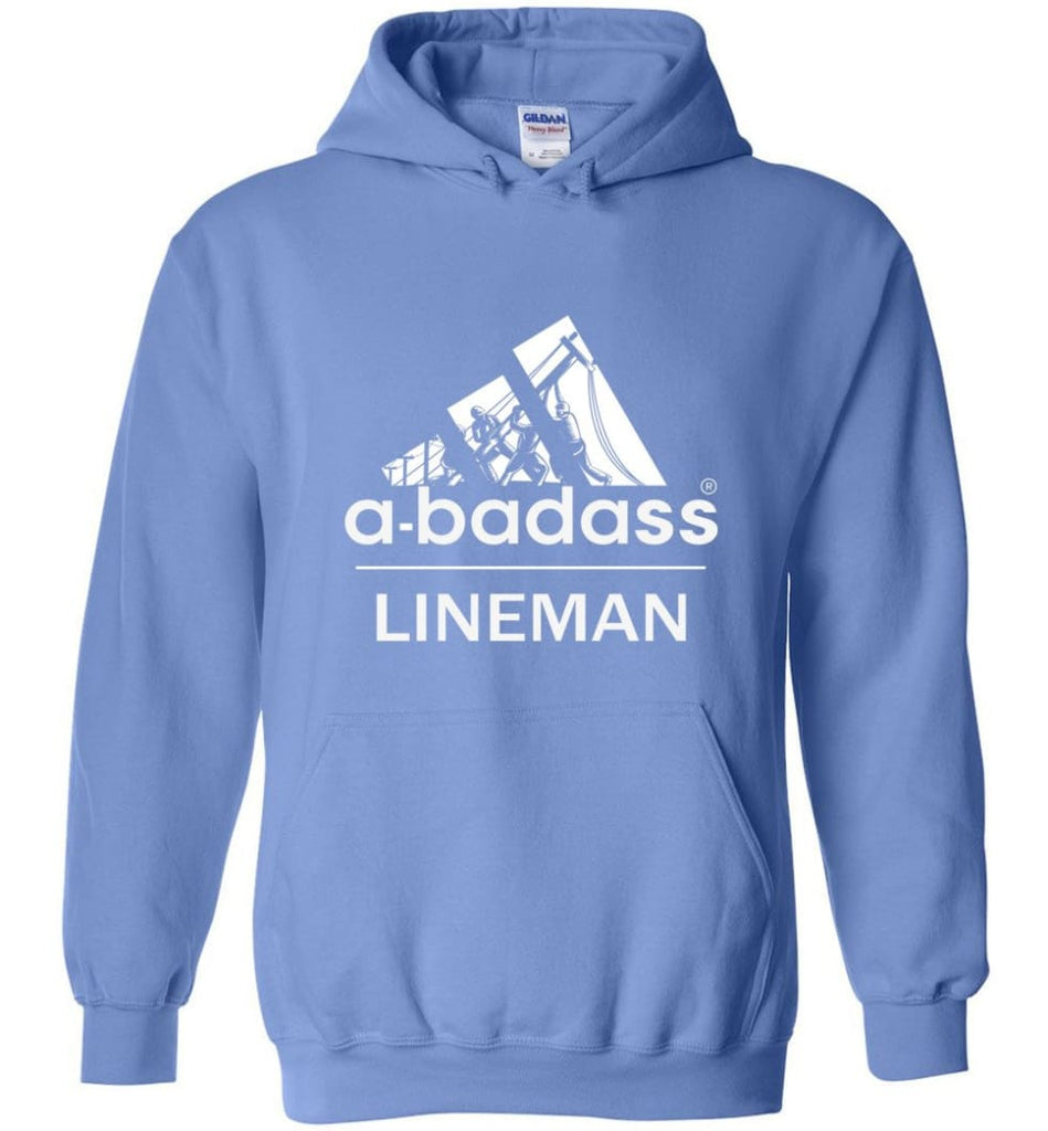 A Badass Lineman Shirts My Daddy Is A Lineman Shirt - Hoodie - Carolina Blue / M
