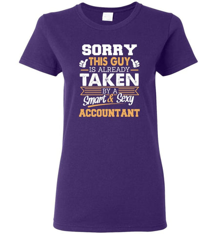 Accountant Shirt Cool Gift for Boyfriend Husband or Lover Women Tee - Purple / M - 11