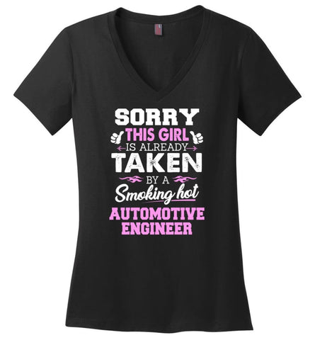 Accountant Shirt Cool Gift for Girlfriend Wife or Lover Ladies V-Neck - Black / M - 11
