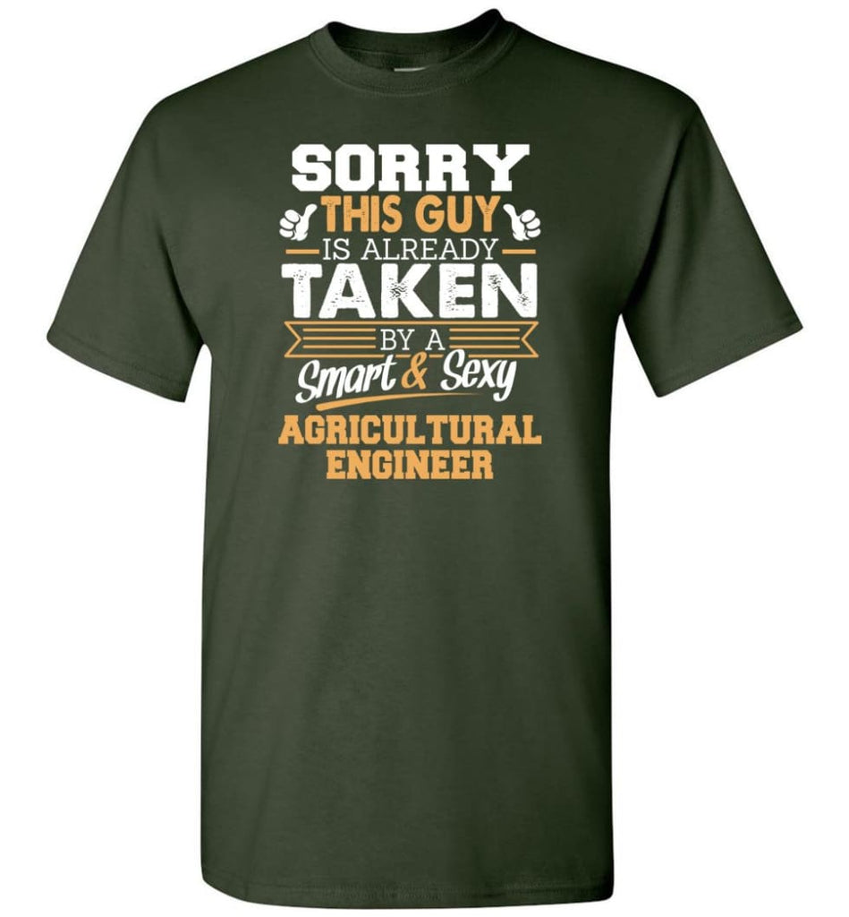 Agricultural Engineer Shirt Cool Gift for Boyfriend Husband or Lover - Short Sleeve T-Shirt - Forest Green / S
