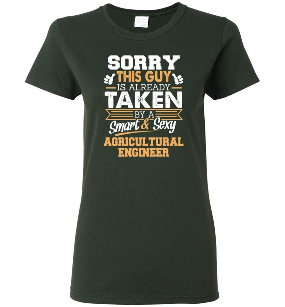 Agricultural Engineer Shirt Cool Gift for Boyfriend Husband or Lover Women Tee - Forest Green / M - 13