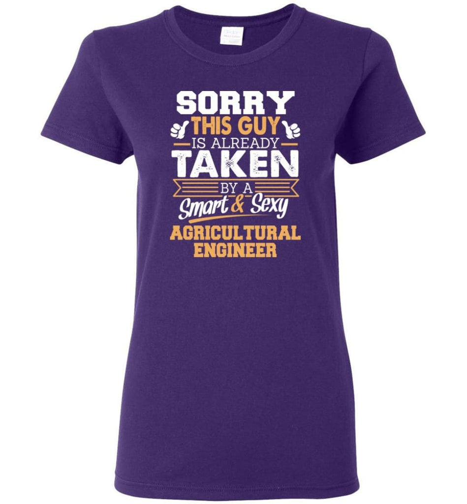 Agricultural Engineer Shirt Cool Gift for Boyfriend Husband or Lover Women Tee - Purple / M - 13