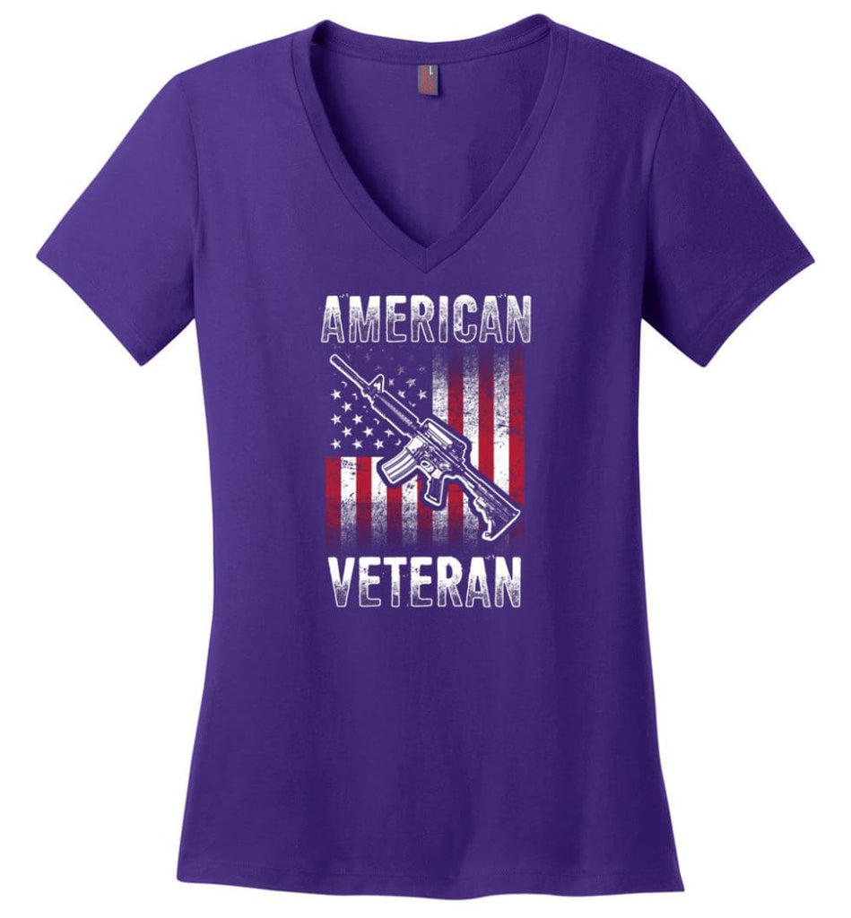 All Women Are Created Equal But The Best Become Nurses Shirt Ladies V-Neck - Purple / M