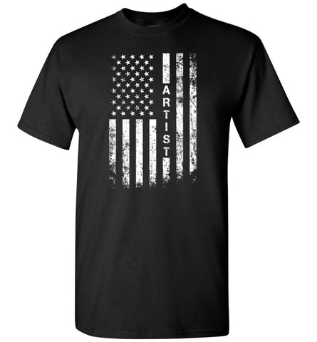 American Flag Artist Cool and Best Christmas Gifts for Artist T-Shirt - Black / S