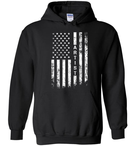 American Flag Artist Cool and Best Christmas Gifts for Artist T-shirt Sweatshirt and Hoodie - Black / M