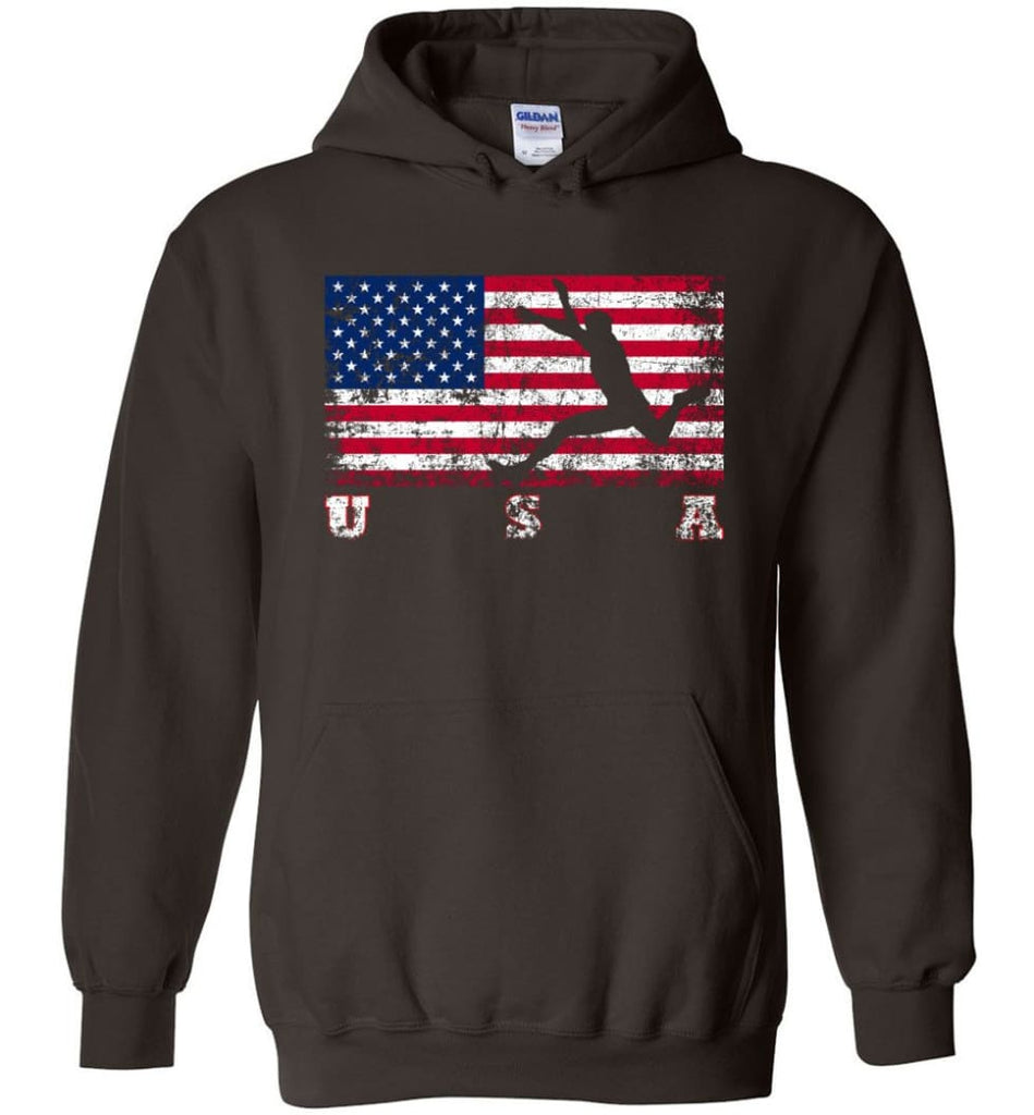 American Flag Athletics - Hoodie - Dark Chocolate / M