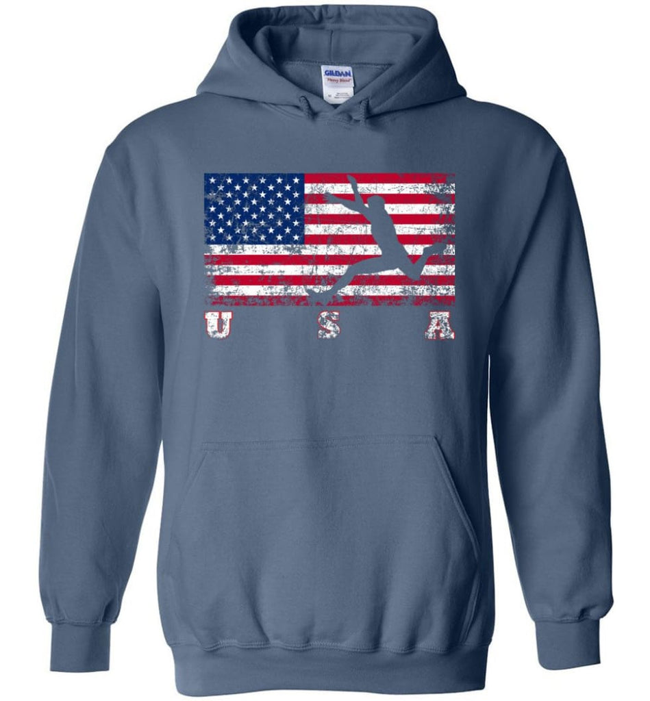 American Flag Athletics - Hoodie - Indigo Blue / M