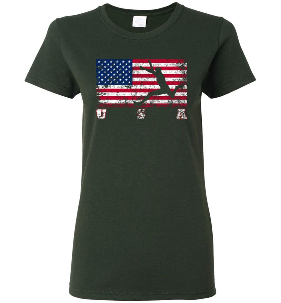 American Flag Athletics Women Tee - Forest Green / M