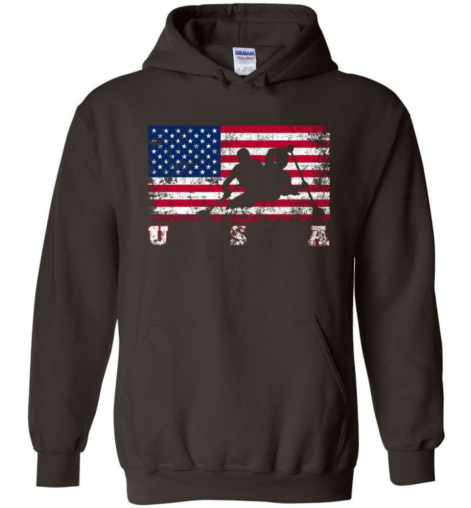 American Flag Canoe Sprint - Hoodie - Dark Chocolate / M