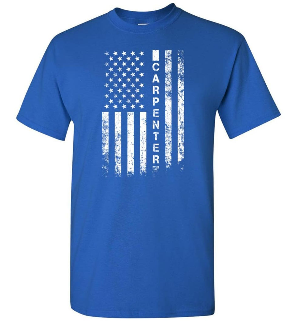 American Flag Carpenter - Short Sleeve T-Shirt - Royal / S