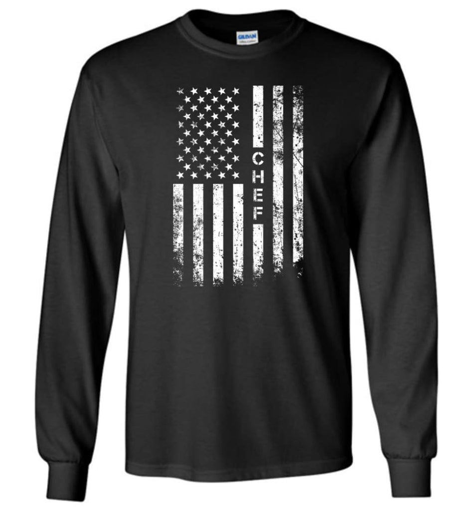 American Flag Chef Long Sleeve - Black / M