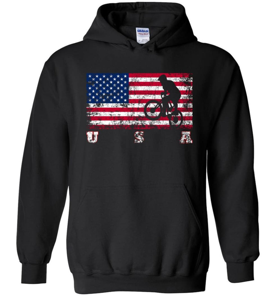 American Flag Cycling BMX - Hoodie - Black / M