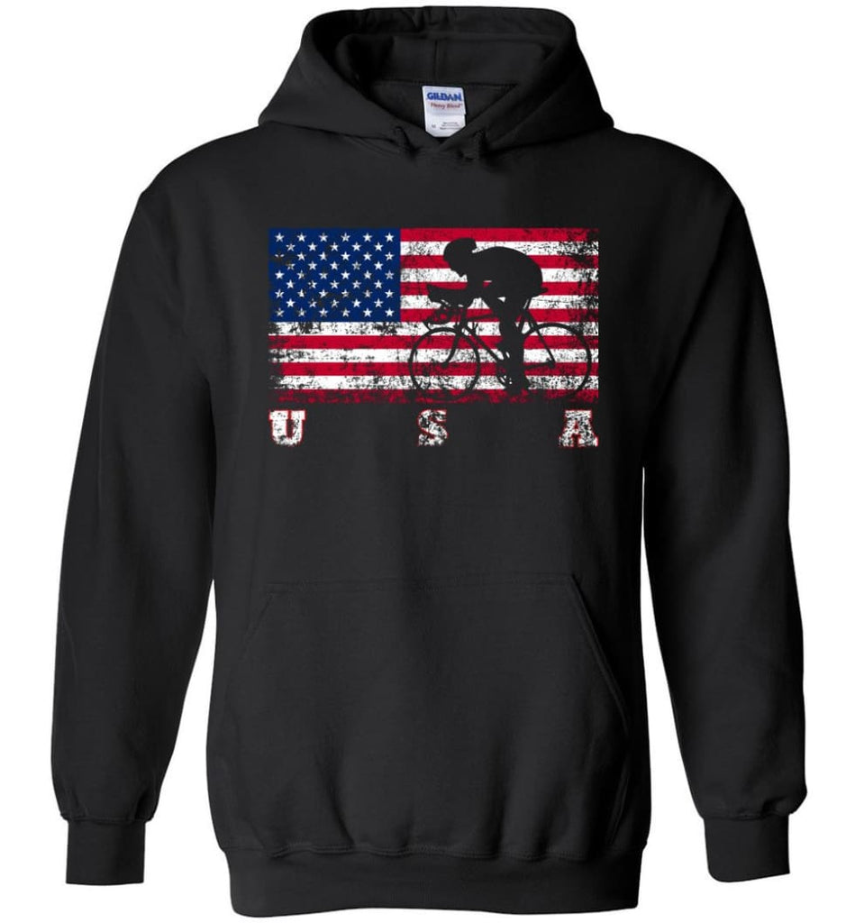 American Flag Cycling Road - Hoodie - Black / M