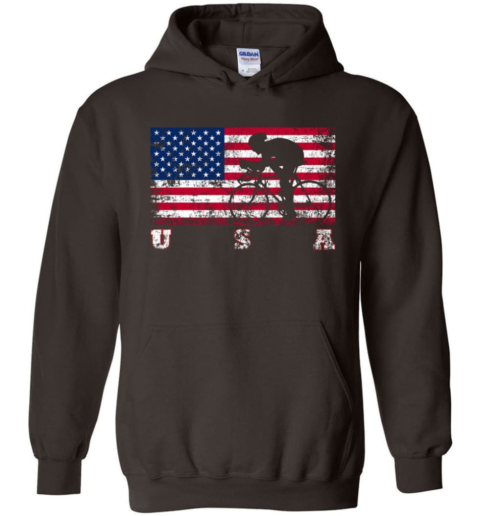 American Flag Cycling Road - Hoodie - Dark Chocolate / M