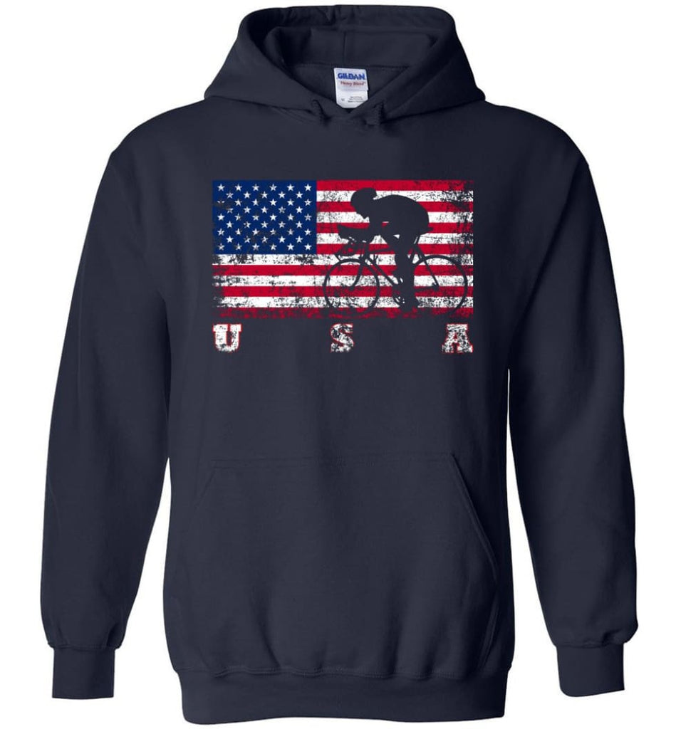 American Flag Cycling Road - Hoodie - Navy / M