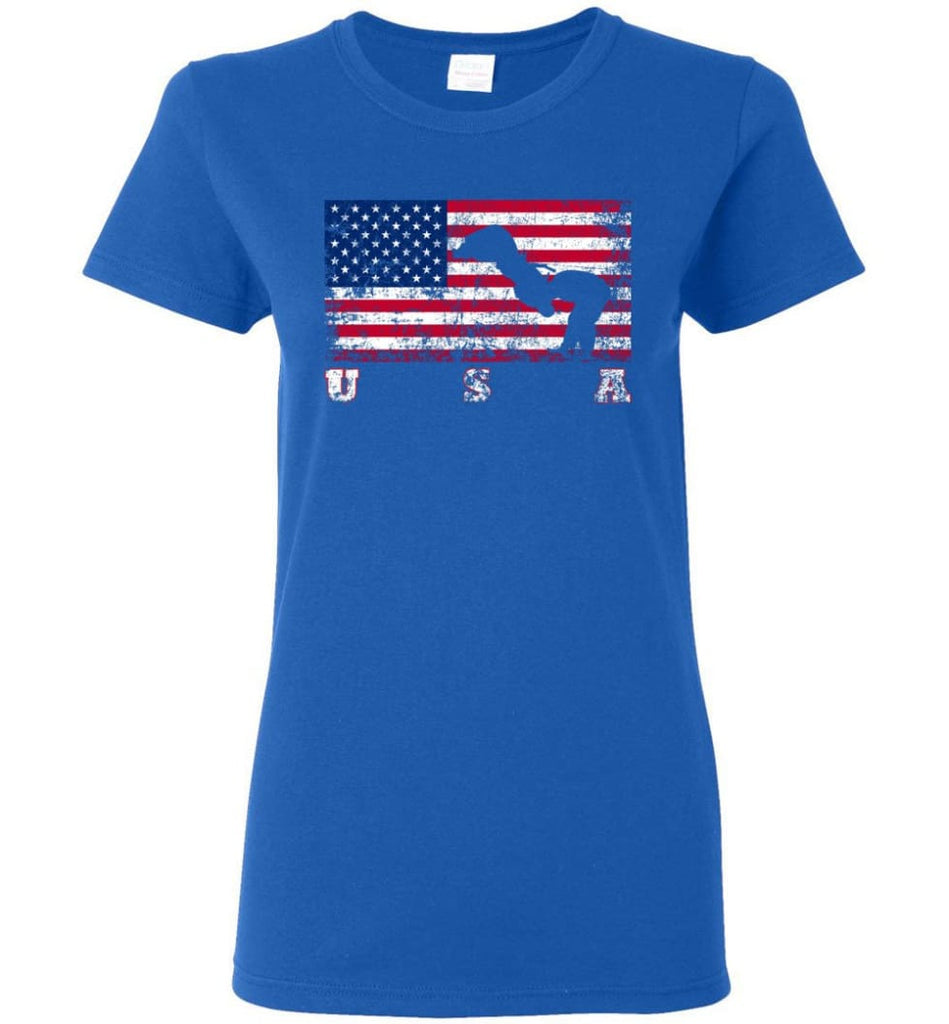 American Flag Judo Women Tee - Royal / M