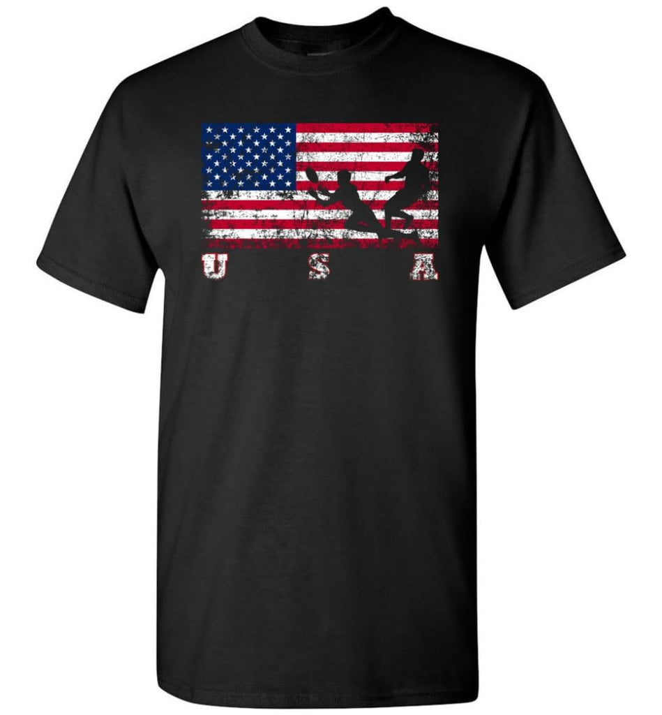 American Flag Rugby Sevens - Short Sleeve T-Shirt - Black / S