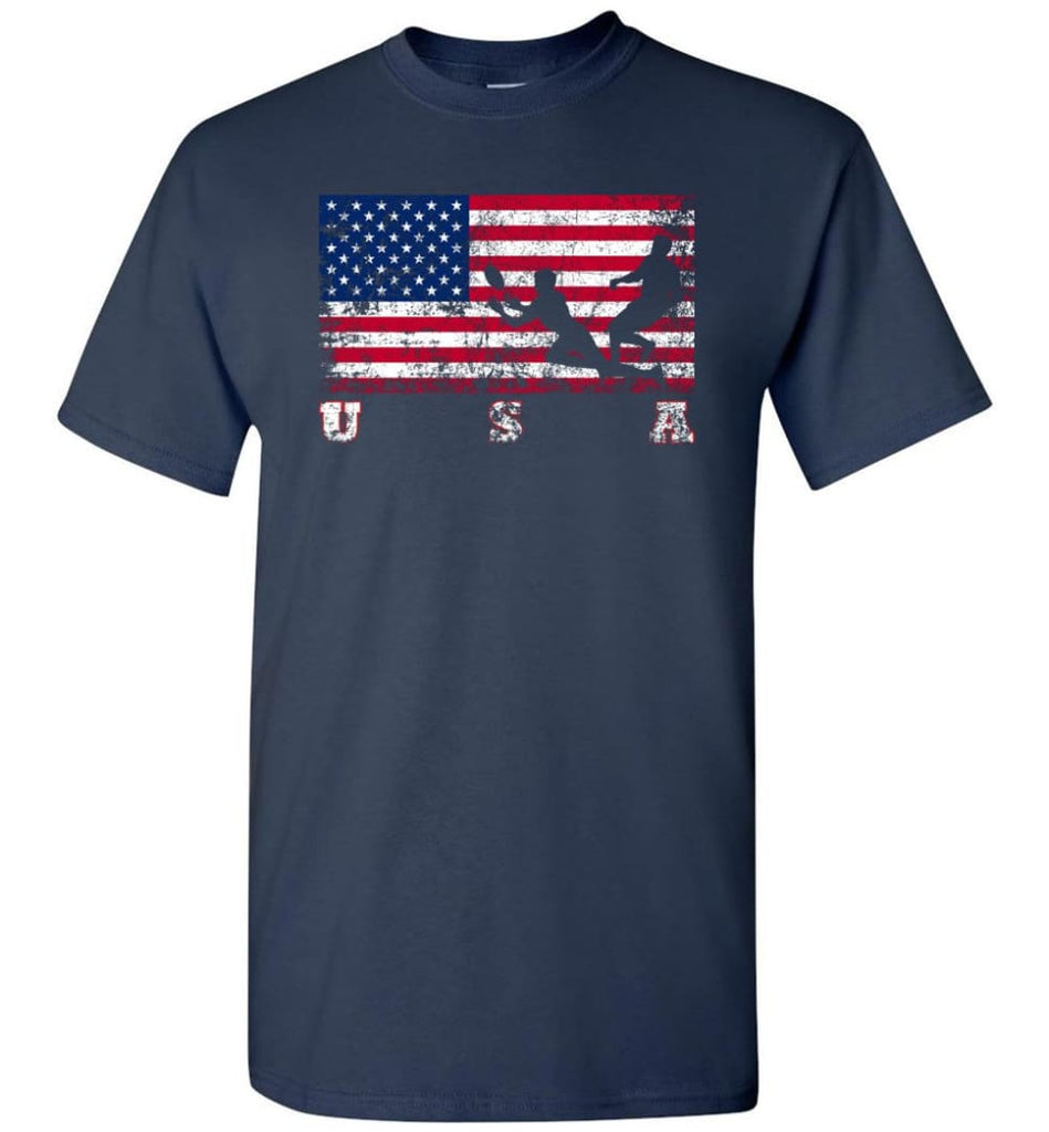 American Flag Rugby Sevens - Short Sleeve T-Shirt - Navy / S