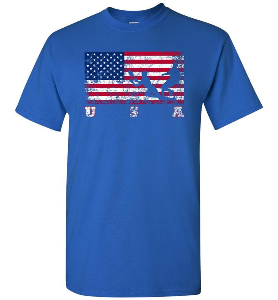 American Flag Rugby Sevens - Short Sleeve T-Shirt - Royal / S