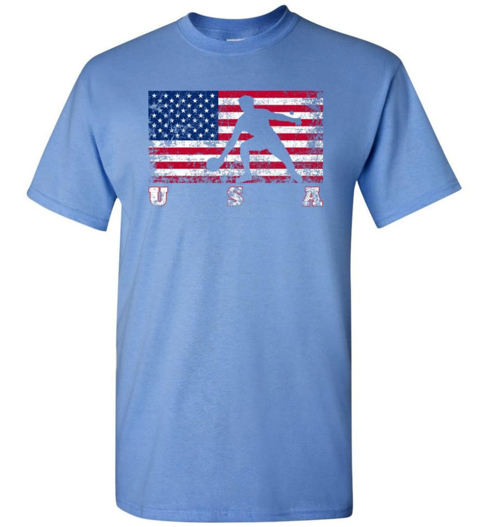 American Flag Table Tennis - Short Sleeve T-Shirt - Carolina Blue / S
