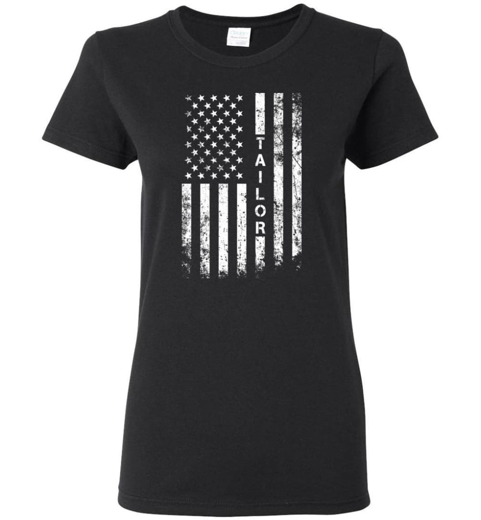 American Flag Tailor Women Tee - Black / M