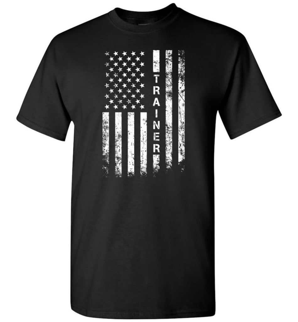 American Flag Trainer - Short Sleeve T-Shirt - Black / S
