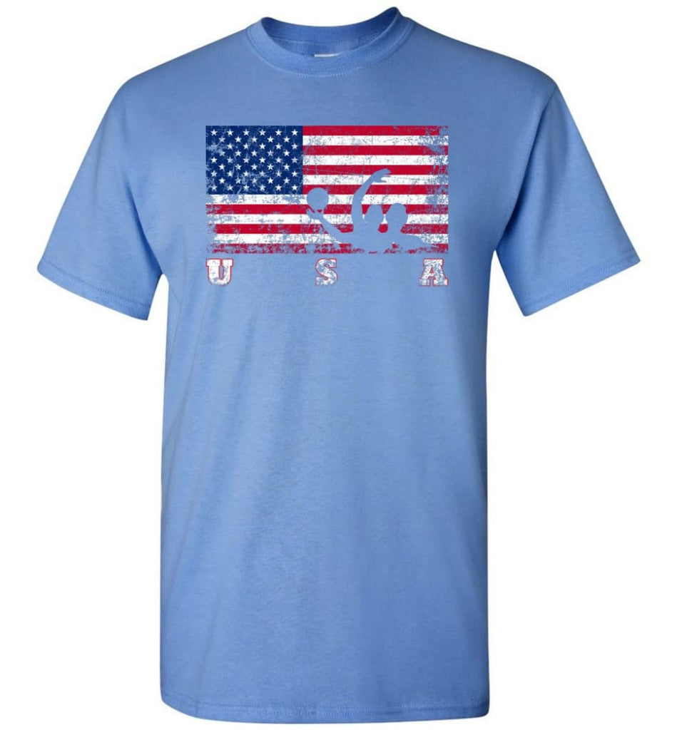 American Flag Water Polo - Short Sleeve T-Shirt - Carolina Blue / S