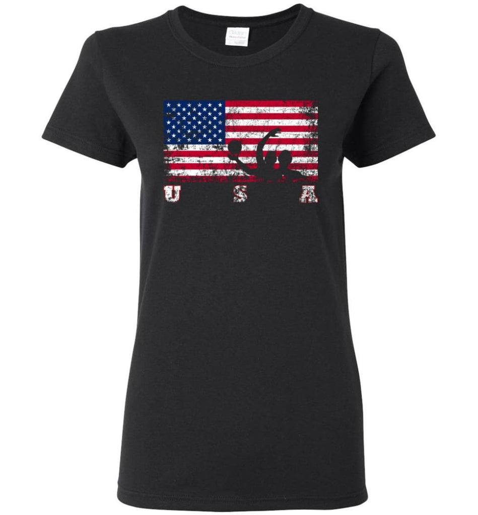 American Flag Water Polo Women Tee - Black / M